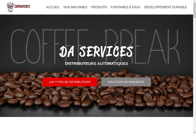 Capture d'écran du site de Da Services