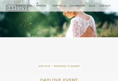 Capture d'écran du site de Daylove Event