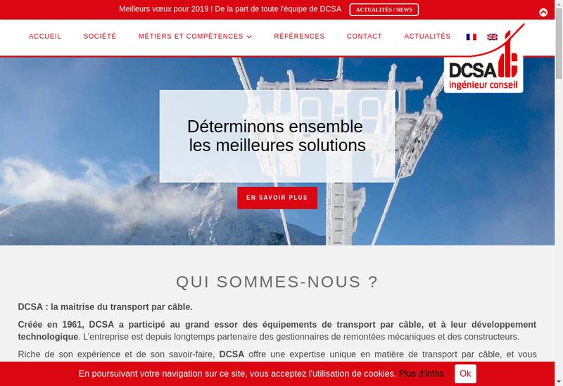 Capture d'écran du site de DCSA