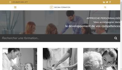 Site internet de Decima Formation