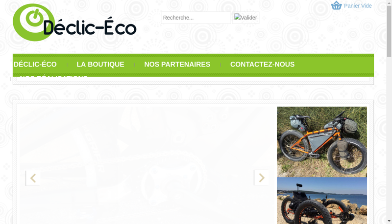 Capture d'écran du site de Declic Eco