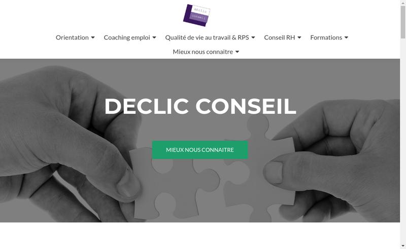Capture d'écran du site de Declic Conseil