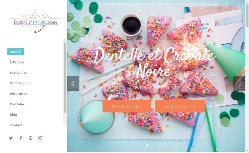 Capture d'écran du site de Dentelle et Cravate Noire