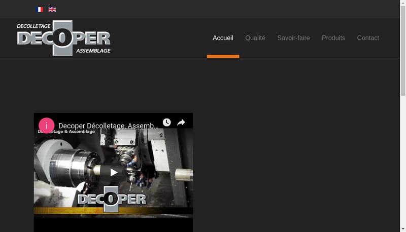 Capture d'écran du site de Decoper