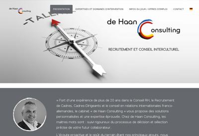 Capture d'écran du site de De Haan Consulting