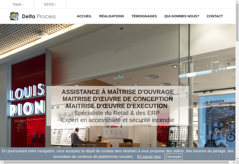 Capture d'écran du site de Delta Process