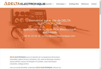 Site internet de Delta Electronique