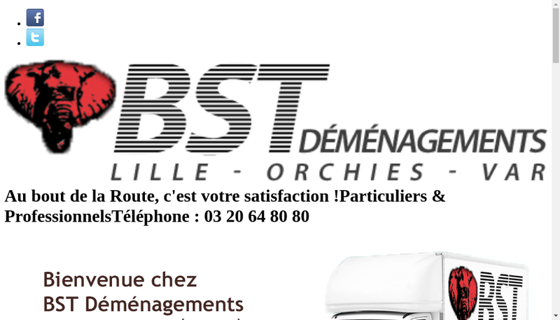 Capture d'écran du site de Bst Demenagements