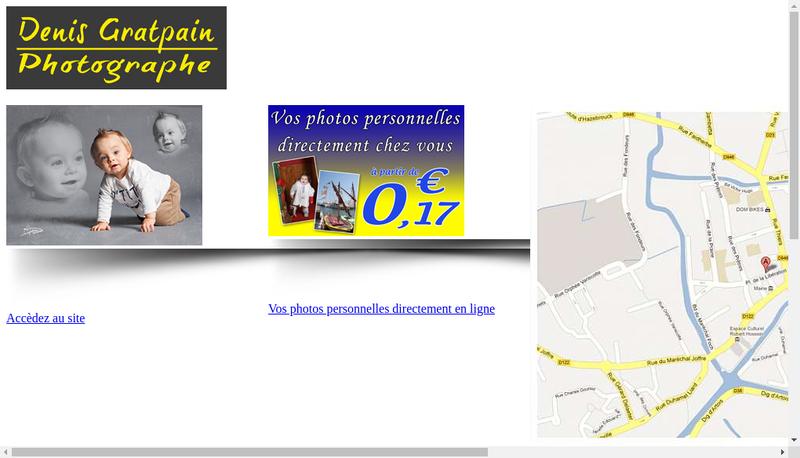 Capture d'écran du site de Denis Gratpain Photographe