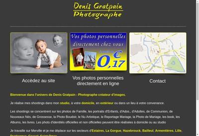 Site internet de Denis Gratpain Photographe