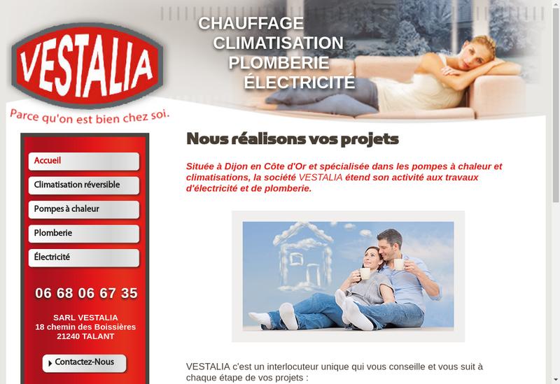 Capture d'écran du site de Vestalia