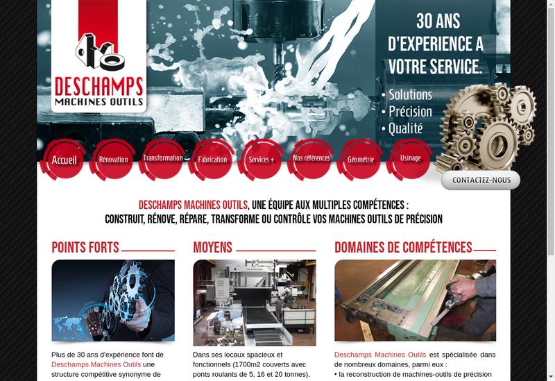 Capture d'écran du site de Deschamps Machines Outils