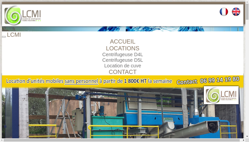 Capture d'écran du site de LCMI