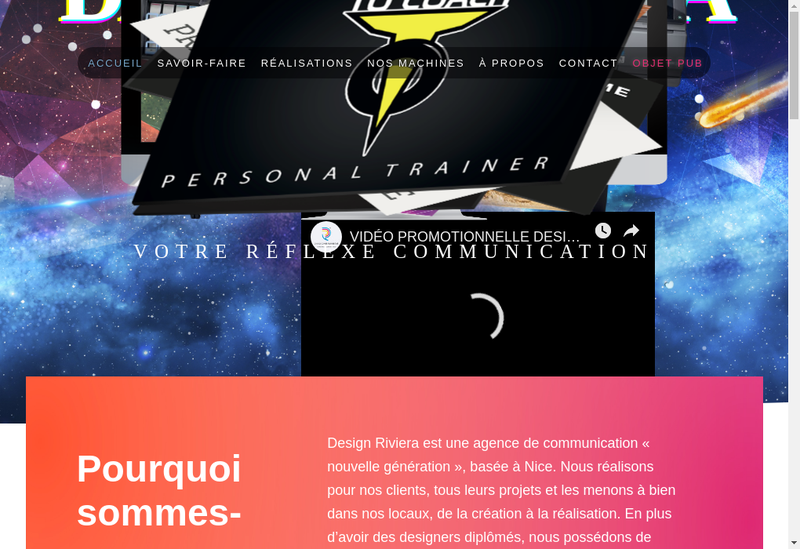 Capture d'écran du site de Design Riviera