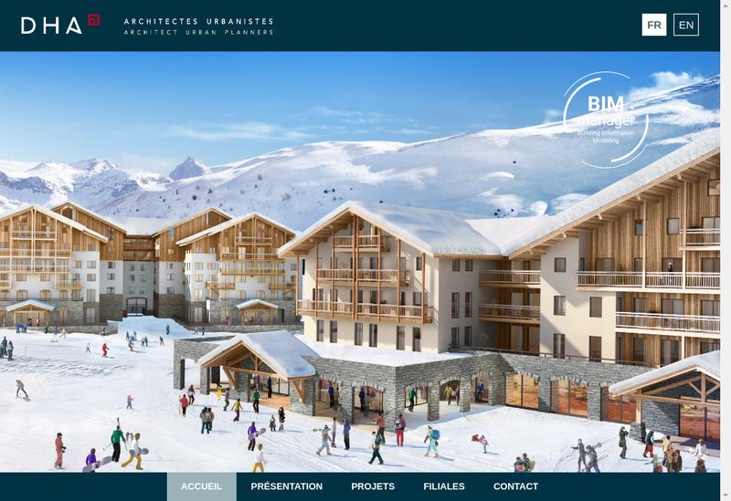 Capture d'écran du site de Dha Auvergne