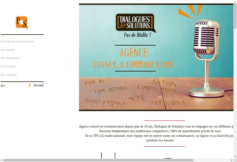 Capture d'écran du site de Dialogues et Solutions