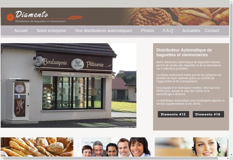 Capture d'écran du site de Diamento