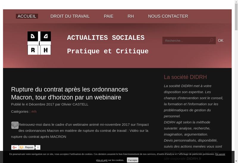 Capture d'écran du site de Didrh