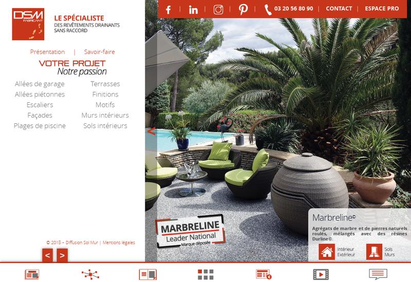 Capture d'écran du site de Diffusion Sol Mur