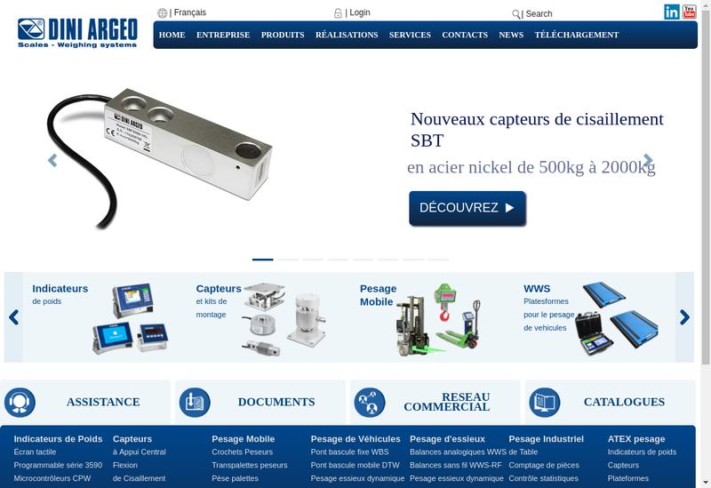 Capture d'écran du site de Dini Argeo France