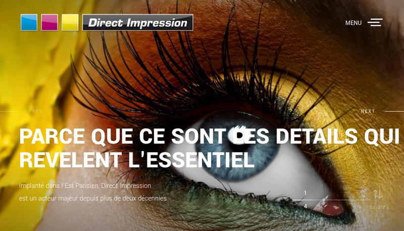 Capture d'écran du site de Direct Impression