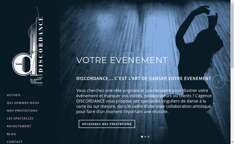Capture d'écran du site de Discordance