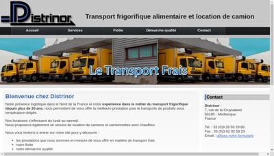 Capture d'écran du site de Distrinor