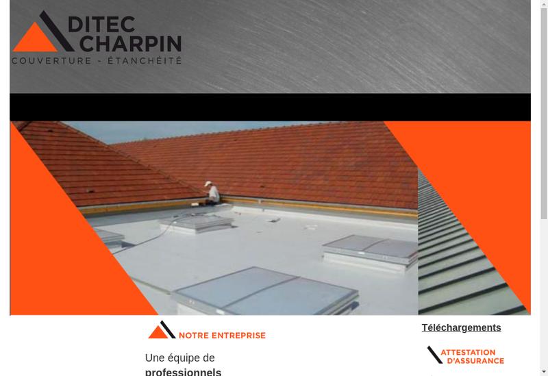 Capture d'écran du site de Ditec - Charpin