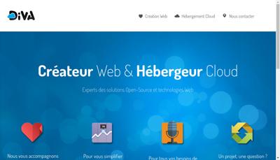 Capture d'écran du site de Diva Cloud