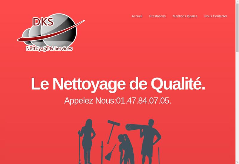 Capture d'écran du site de Dks Nettoyage & Services