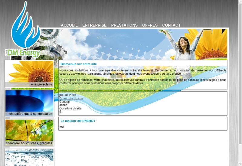 Site internet de Dm Energy