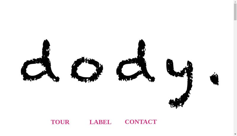 Capture d'écran du site de DODY