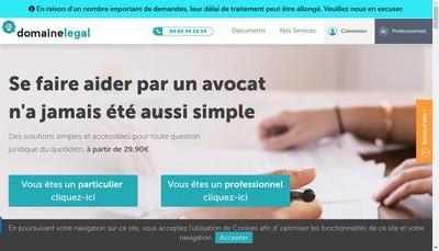 Site internet de Domaine Legal