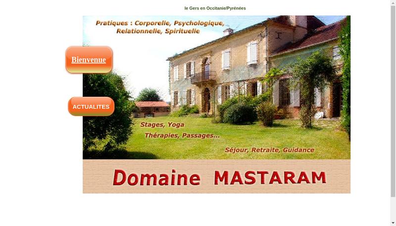Capture d'écran du site de Domaine Mastaram