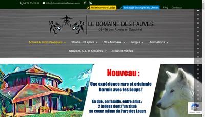 Site internet de Domaine des Fauves