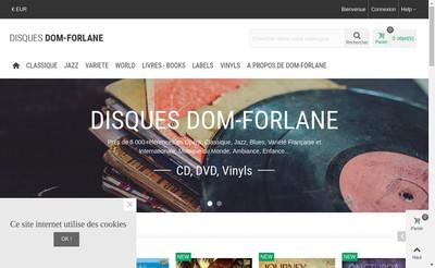 Site internet de Disques Dom