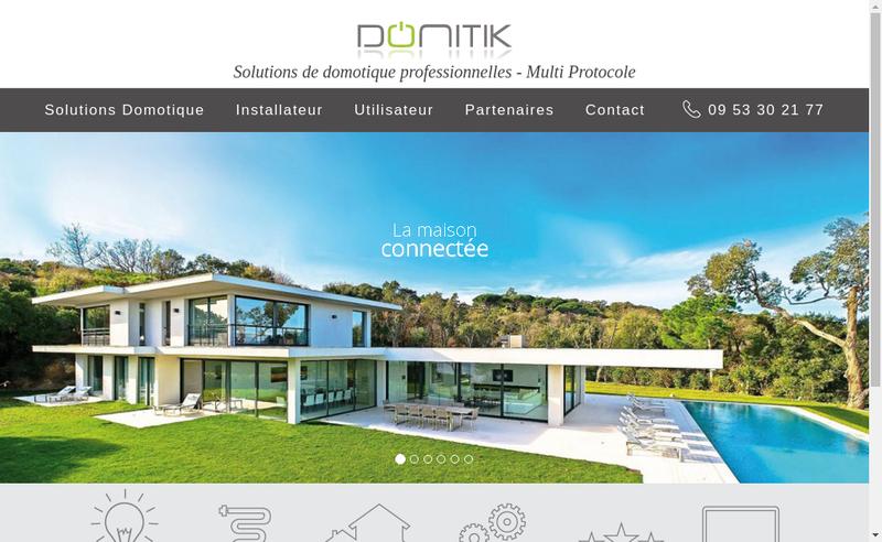 Capture d'écran du site de Domitik Services