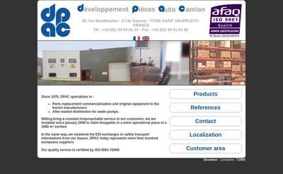 Site internet de Developpement Pieces Auto Camion