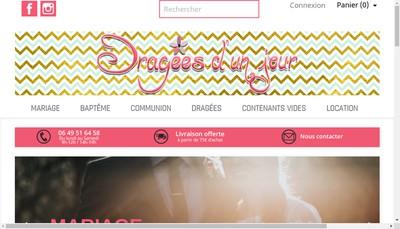 Site internet de Dragees d'un Jour
