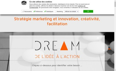 Site internet de Dream Consulting