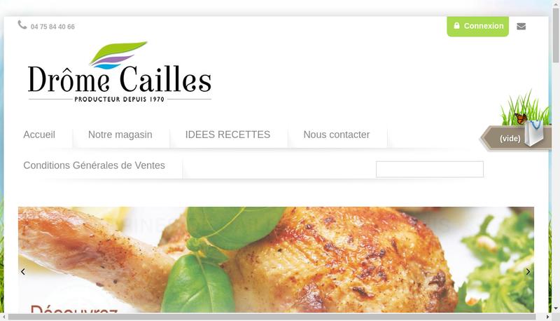 Capture d'écran du site de Drome Cailles