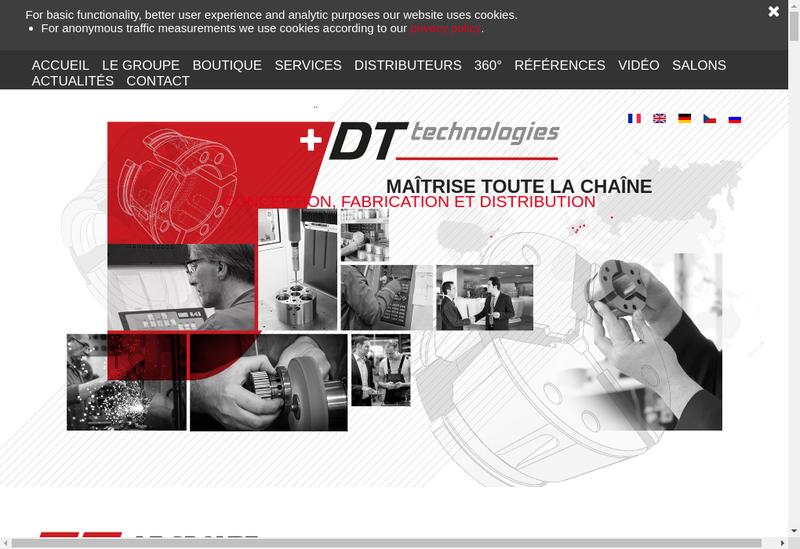 Capture d'écran du site de Dt Technologies