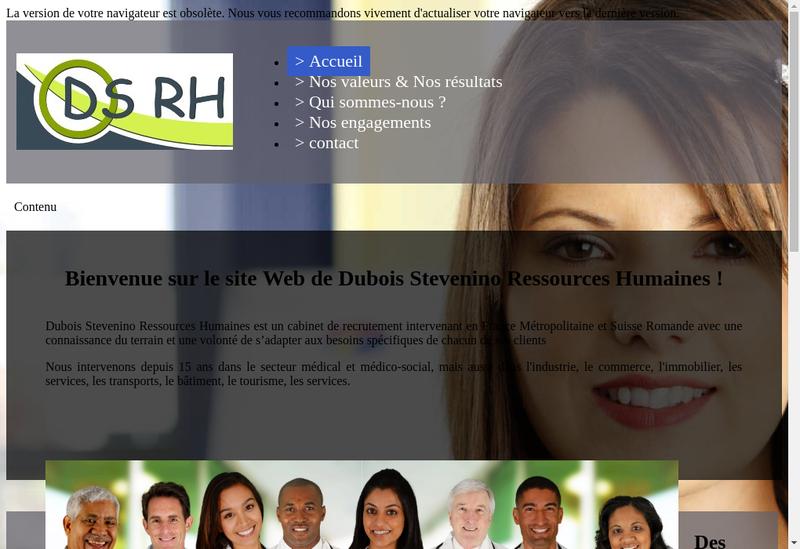 Capture d'écran du site de Dubois Stevenino Ressources Humaine