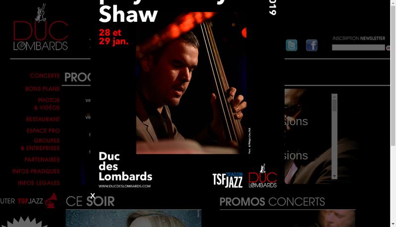 Capture d'écran du site de Les Lombards