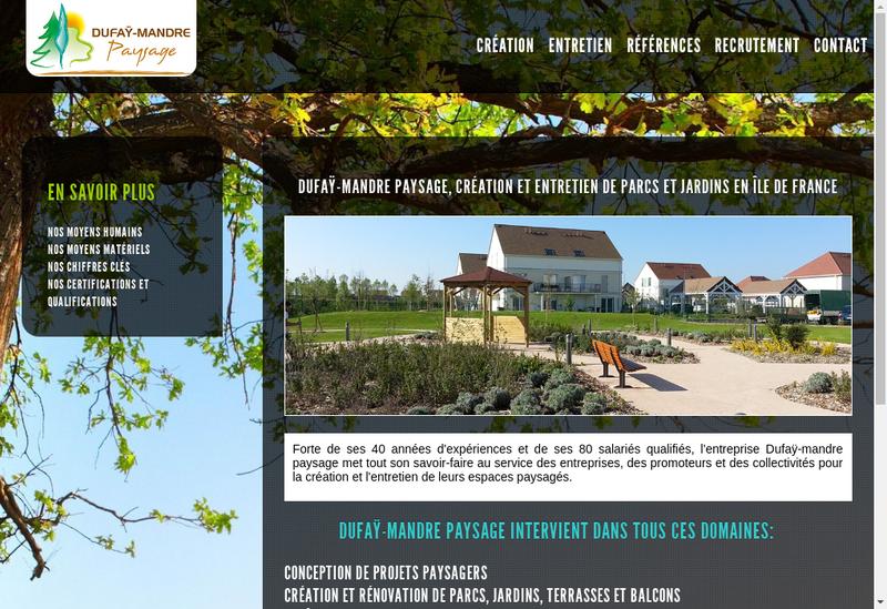 Capture d'écran du site de Dufay Mandre