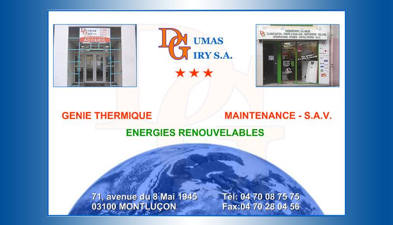 Capture d'écran du site de Dumas Giry