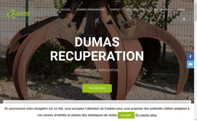 Site internet de Dumas Recuperation