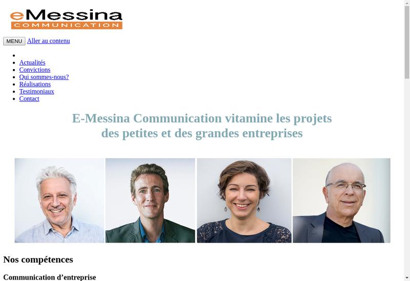 Capture d'écran du site de E Messina Communication
