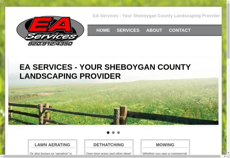 Capture d'écran du site de EA Services