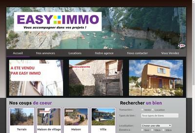 Site internet de Easyimmo